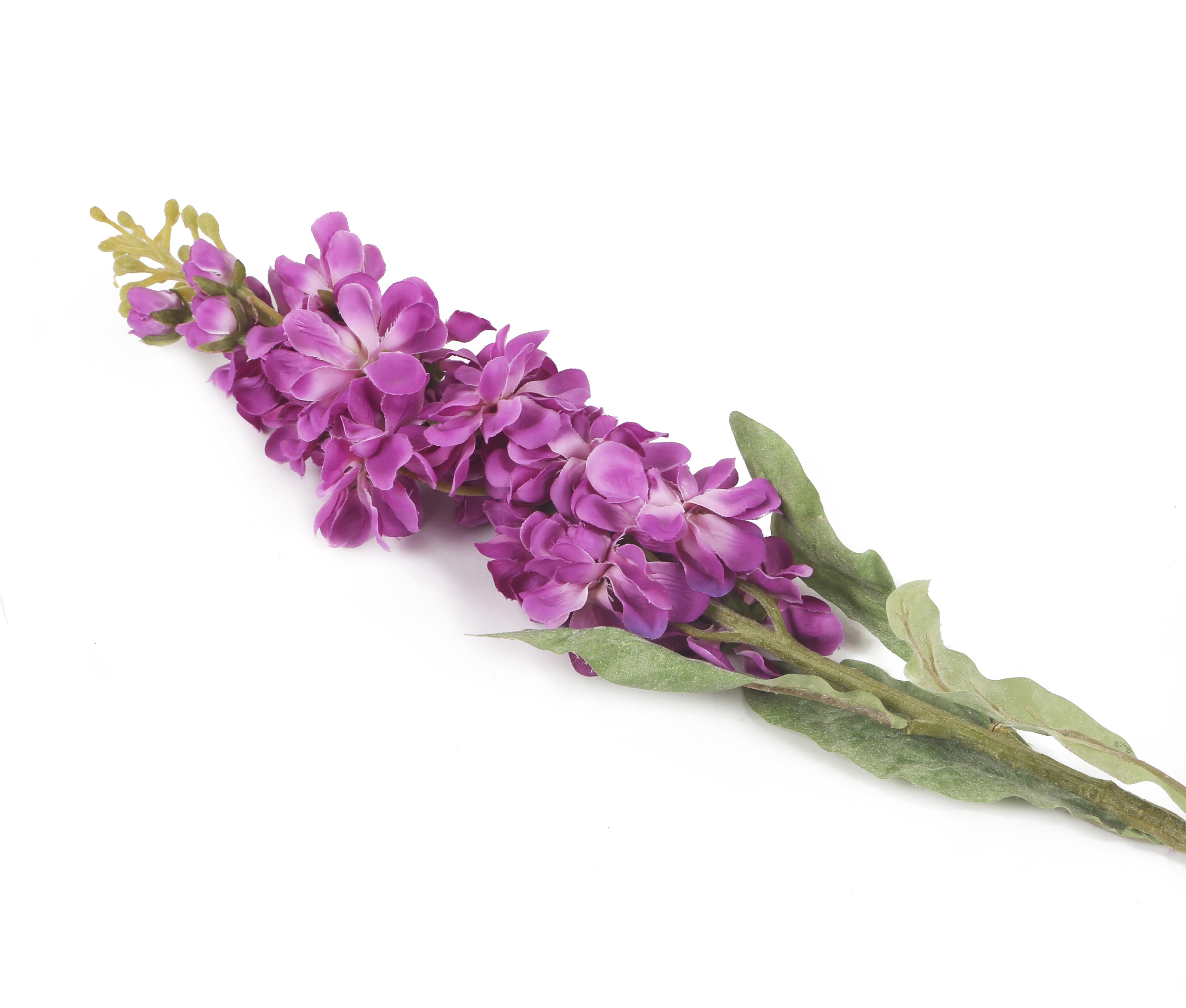 View large Artificial 78cm Single Stem Purple Stock Flowers x 12 - Artificial Luxury Silk Flower Range UK