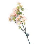 View large Artificial 80cm Single Stem Pink and White Japanese Cherry Blossoms x 12 - Artificial Luxury Silk Flower Range UK