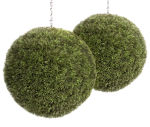 View large Artificial 40cm Grass Ball Topiary x 2 - Artificial Silk Plant and Tree Range UK