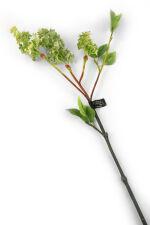 View large Artificial 76cm Single Stem Green Lilac Blossoms x 6 - Artificial Luxury Silk Flower Range UK