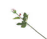 View large Artificial 60cm Single Stem Closed Bud Pale Pink Rose - Artificial Luxury Silk Flower Range UK