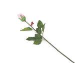 View large Artificial 60cm Single Stem Closed Bud Pale Pink Rose - Artificial Luxury Silk Flower Range UK