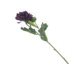 View large Artificial 55cm Single Stem Dark Purple Chrysanthemum - Artificial Luxury Silk Flower Range UK