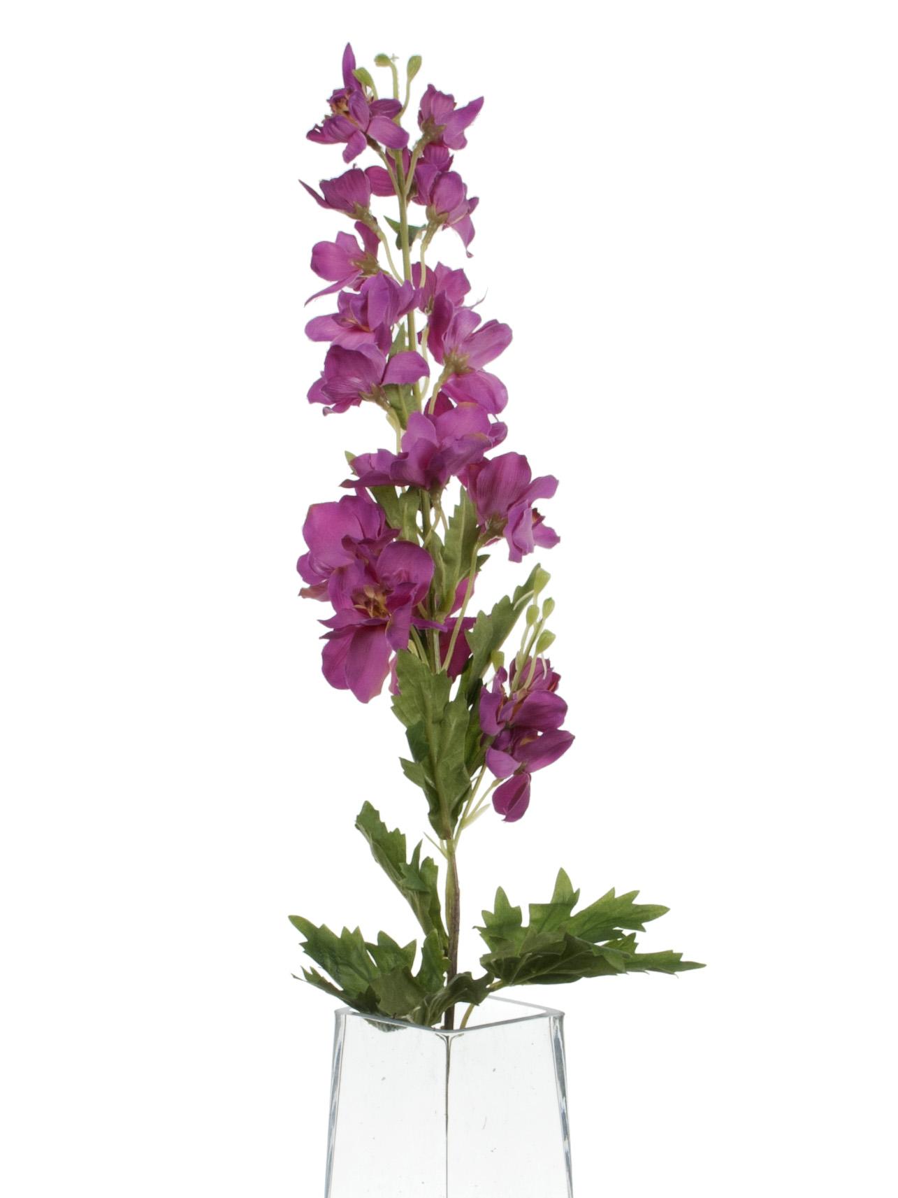 View large Artificial 80cm Single Stem Magenta Candle Larkspur - Artificial Luxury Silk Flower Range UK
