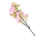 View large Artificial 80cm Single Stem Pink Japanese Cherry Blossom - Artificial Luxury Silk Flower Range UK