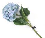 View large Artificial 87cm Single Stem Blue Mophead Hydrangea - Artificial Luxury Silk Flower Range UK