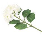View large 87cm Single Stem White Mophead Hydrangea - Artificial Luxury Silk Flower Range UK