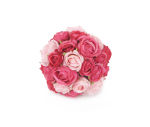 View large Artificial 12cm Pink Rose Pomander Kissing Ball Display - Artificial Silk Floral Arrangement and Display Range UK