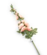 View large Artificial 118cm Single Stem Pale Peach Hollyhock - Artificial Luxury Silk Flower Range UK