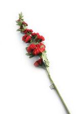 View large Artificial 118cm Single Stem Red Hollyhock - Artificial Luxury Silk Flower Range UK