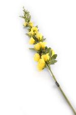 View large Artificial 118cm Single Stem Yellow Hollyhock - Artificial Luxury Silk Flower Range UK