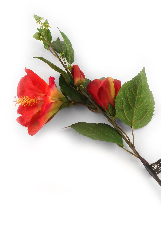 Artificial 92cm Red Hibiscus Flower Faux Hibiscus Silk Hibiscus