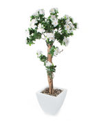 View large Artificial 4ft White Azalea Tree - Artificial Silk Plant and Tree Range UK