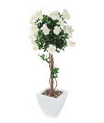 "View large Artificial 3ft 8"" Ivory Azalea Tree - Artificial Silk Plant and Tree Range UK"