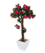 "View large Artificial 4ft 3"" Cerise Azalea Tree - Artificial Silk Plant and Tree Range UK"