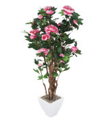"View large Artificial 4ft 6"" Pink Peony Tree - Artificial Silk Plant and Tree Range UK"