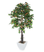 View large Artificial 6ft Orange Tree - Artificial Silk Plant and Tree Range UK