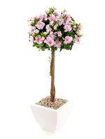 "View large Artificial 3ft 6"" Pink Azalea Tree - Artificial Silk Plant and Tree Range UK"