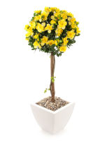 "View large Artificial 3ft 6"" Yellow Azalea Tree - Artificial Silk Plant and Tree Range UK"