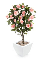 """View large Artificial 3ft 4"""" Pink Rose Bush - Artificial Silk Plant and Tree Range UK"""