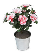 View large Artificial 27cm Pink Azalea Plug Plant - Artificial Bedding Plug Plant and Display Range UK