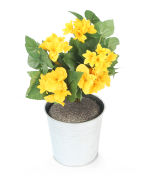 View large Artificial 24cm Yellow Begonia Plug Plant - Artificial Bedding Plug Plant and Display Range UK