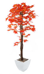 View large Artificial 5ft Red Japanese Maple Tree - Artificial Silk Plant and Tree Range UK