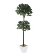 View large Artificial 6ft Bay Tree Topiary - Artificial Silk Plant and Tree Range UK