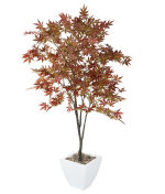 View large Artificial 5ft Russet Brown Japanese Maple Tree - Artificial Silk Plant and Tree Range UK