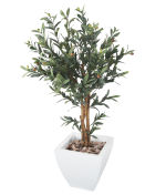 View large Artificial 3ft Olive Tree - Artificial Silk Plant and Tree Range UK