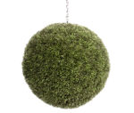 View large Artificial 40cm Grass Ball Topiary - Artificial Silk Plant and Tree Range UK